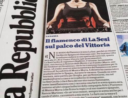 Il flamenco di La Sesi sul palco del Vittoria